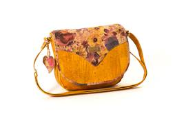 Cork Handbag BILBAU Autumn Yellow