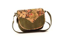 Cork Handbag BILBAU Leaf Forest