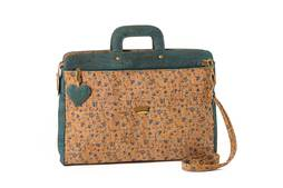 Cork Laptop Bag OKINAWA Flower Ocean