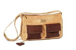 Cork Handbag BAKI Natural Wood
